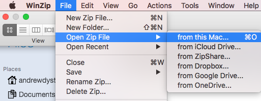 Find my compressed zip files